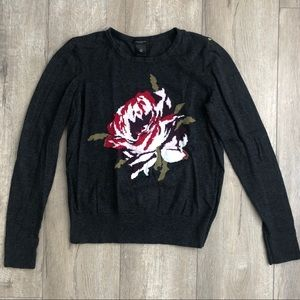 Ann Taylor Factory Rose Knit Sweater